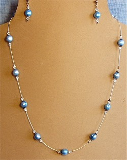 Pearls & Crystals Illusion Necklace