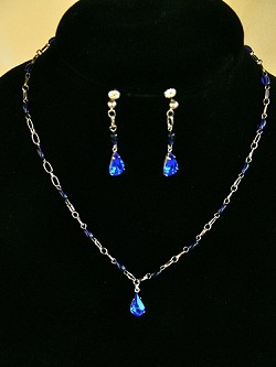 Vintage Rhinestone Crystals & Rosary Beads Necklace and/or Matching Earrings
