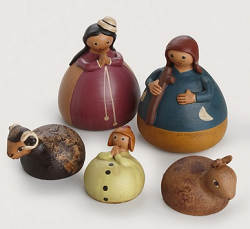 Roly-Poly Nativity, Ceramic  Peru