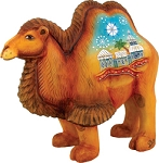 Folk Nativity Camel  Hand Moulded, Hand Painted   Russia