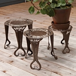 Nesting Metal Plant Stands  Recycled Steel  Haiti