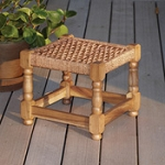 Chocolate Charpoy Stool  Jute, Wood  Bangladesh