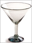 Classic Martini / Margarita Glass<br>15 oz. Clear Glass<br>Hand blown glass from Mexico
