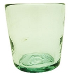 Tapered Rocks Glass, 10-12 oz. Clear glass<br>Hand blown glass from Mexico (Tapered)