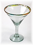Classic Martini / Margarita Glass<br>15 oz. Confetti Rim<br>Hand blown glass from Mexico