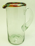 Margarita Pitcher, 56 oz. Confetti Rim<br>Hand blown glass from Mexico