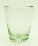 Tapered Shot Glass, 2.5 oz. Clear Glass<br>Hand blown glass from Mexico