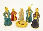 Abaca Nativity Scene, Colorful 4