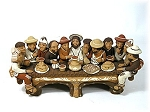 Last Supper Painted Clay  Peru
