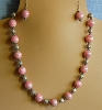 Rhodochrosite and Bali Silver Necklace and/or Matching Earrings