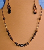 Tiger Eye, Onyx, & Glass Necklace and/or Matching Earrings