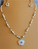 Opalite Pendant & Beads, Pearls & Glass Necklace and/or Earrings