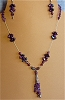 Amethyst, Crystals,Sterling Silver & Glass Necklace