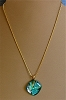 Dichroic Glass Pendant on Necklace