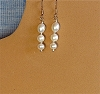 Graduated Pearls & Glass Beads Earrings