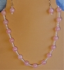 Rose Quartz & Pink Opal Necklace and/or Matching Earrings