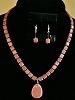 Quality Rhodochrosite, Glass Beads & 0.925 sterling silver Necklace and/or Matching Earrings