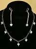 Mint Green Faceted Pearls, Sterling Silver Necklace  and/or Matching Earrings