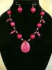 Cranberry Jade & Pearls Necklace and/or Matching Earrings