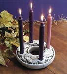 Small Advent Wreath  Hand Cast Stone  Made in U.S.A.