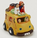 Traveling Bus Nativity, Ceramic, Peru