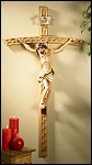 26 inch Val Garden Crucifix Wood/Resin