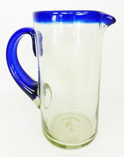 "56 oz. Margarita Pitcher - Cobalt Rim - 8.5"" Tall x 4.5"" Wide"