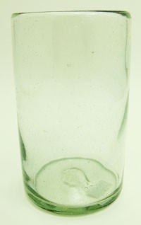 Pinched Style Tumbler Glass, 16 oz. Clear Glass <br> Hand blown from Mexico<br> (PINCHED STYLE)