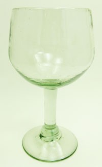 Large Balloon Wine Glass, 16 oz. Clear glass<br>Hand blown glass from Mexico