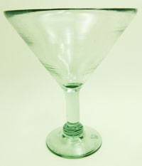 Grande Martini / Margarita Glass<br>26 oz. Clear glass<br>Hand blown glass from Mexico