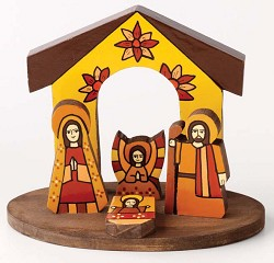La Palma Nativity, El Salvador  - 5in.h x 6in.W x 3 1/4in.d