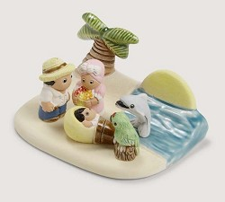 "Island Time Nativity Scene, Ceramic, Peru 3.5"" L x 2.5"" W x 2"" H"