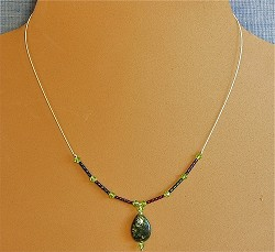 Gemstone, Crystals, Glass & Sterling Silver Necklace