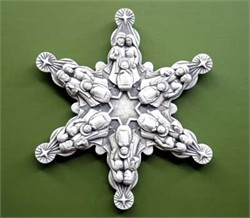 Nativity Snowflake, 14 in. W x 14 in. H x 1.5 in. D